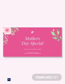 Free Mothers Day Special Sale Blog Post Template