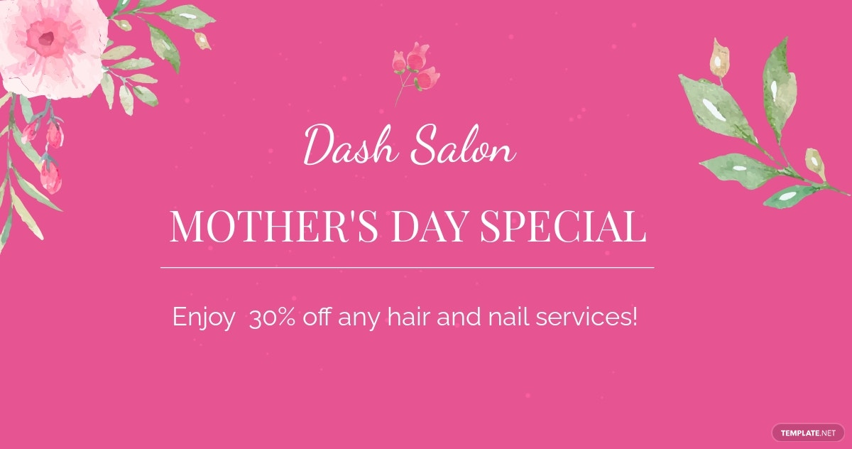 Mothers Day Special Sale Facebook Post Template