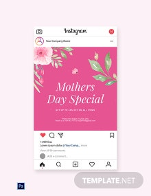 Free Mothers Day Special Sale Instagram Post Template