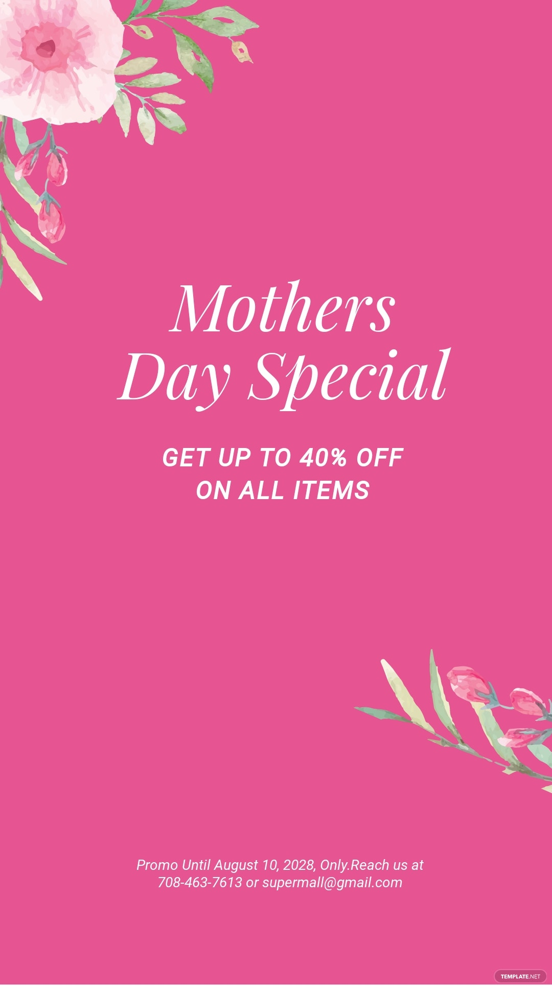 Free Mothers Day Special Sale Instagram Story Template