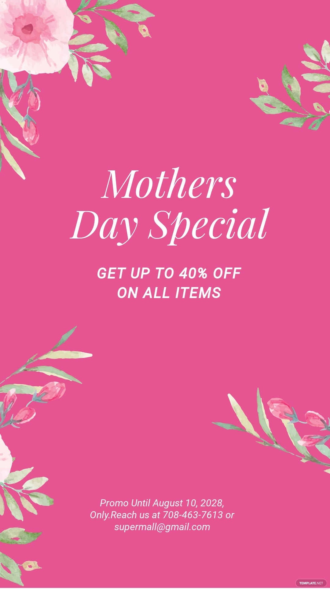 Mothers Day Special Sale Instagram Story Template