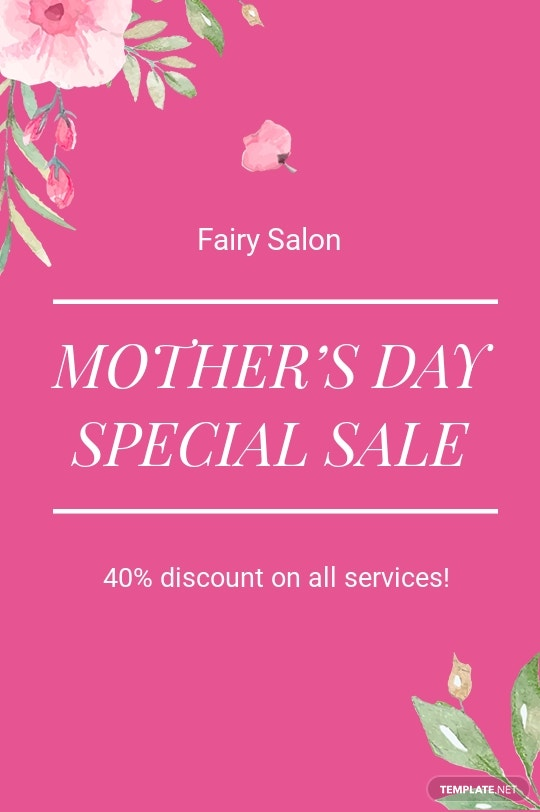 Mothers Day Special Sale Tumblr Post Template