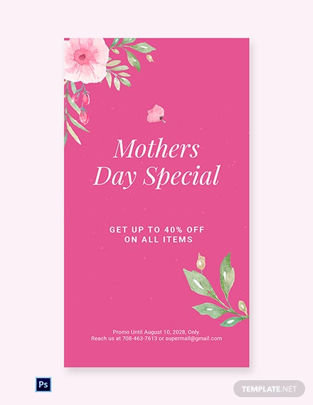 Free Mothers Day Special Sale Whatsapp Image Template