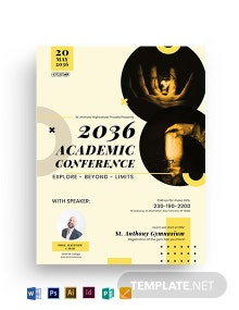 Academic Conference Flyer Template