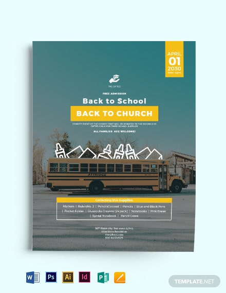 Back To School Church Flyer Template Download 904 Flyers In