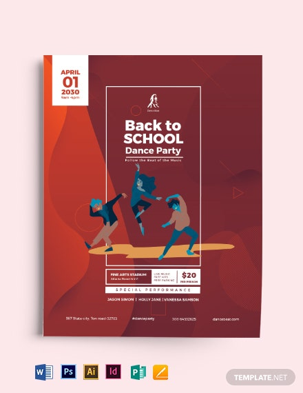 Back To School Dance Flyer Template