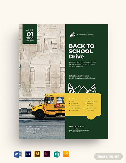back to school drive flyer