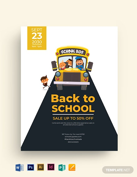 back to school flyer design