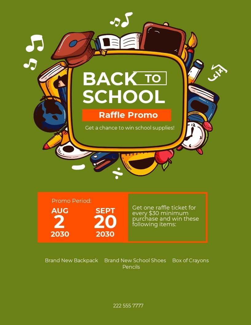 Back To School Raffle Flyer Template.jpe