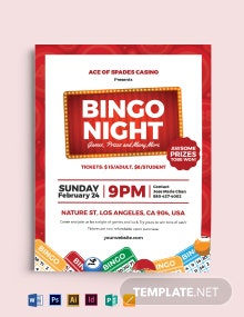 Bingo Border Flyer Template