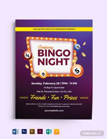 Bingo Game Flyer Template