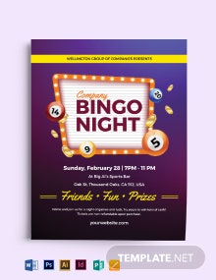 Bingo Game Flyer Template