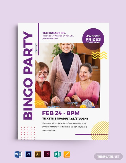 bingo party flyer
