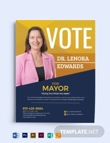 Campaign Announcement Flyer Template