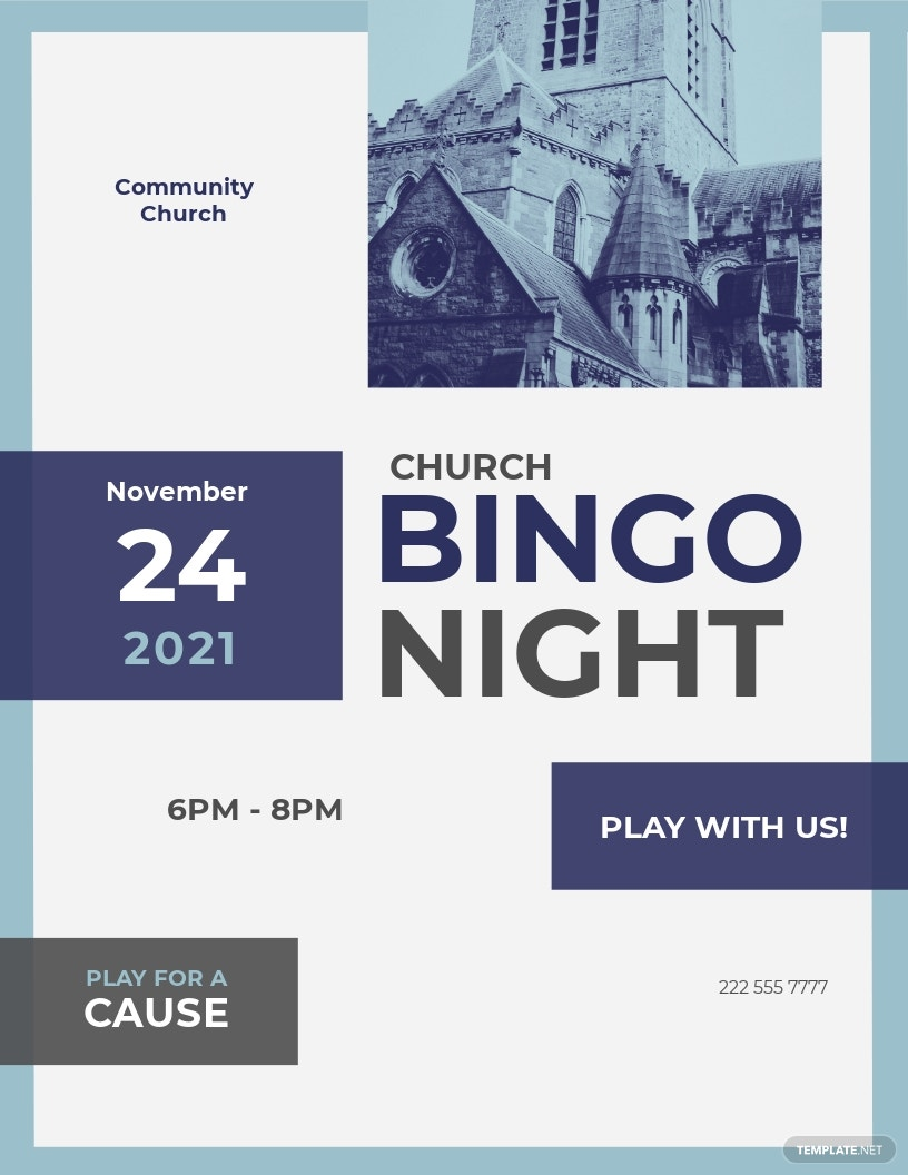 Church Bingo Flyer Template