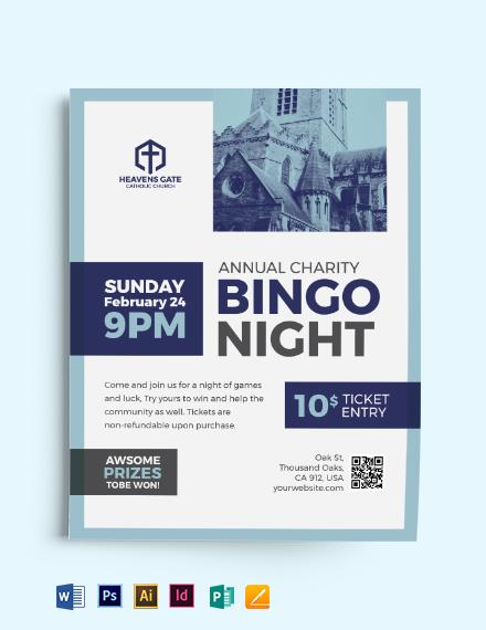 Church Bingo Flyer Template