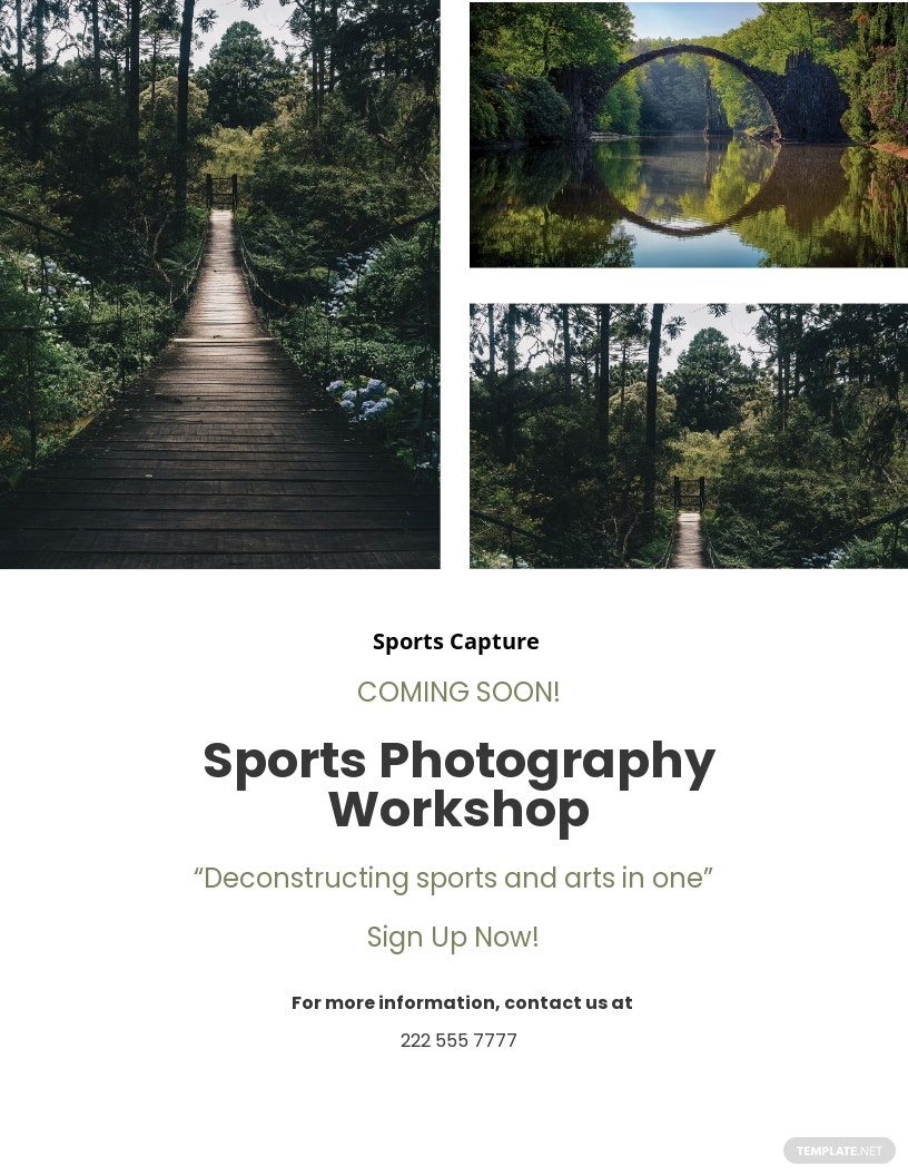 Collage Photography Flyer Template.jpe