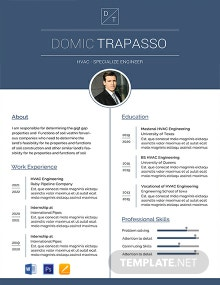 Free HVAC Engineer Resume Template