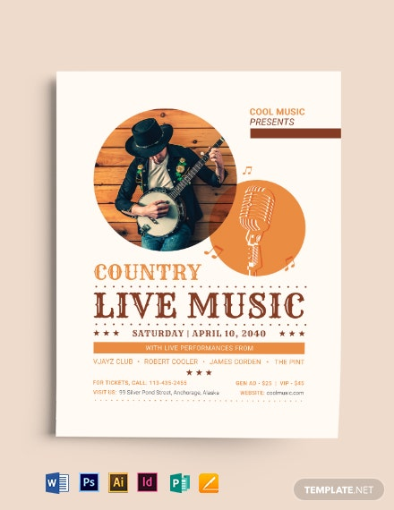 Country Live Flyer Template