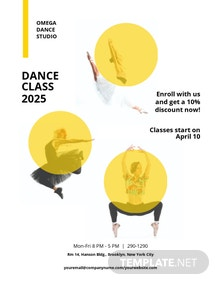 Dance Class Studio Flyer Template