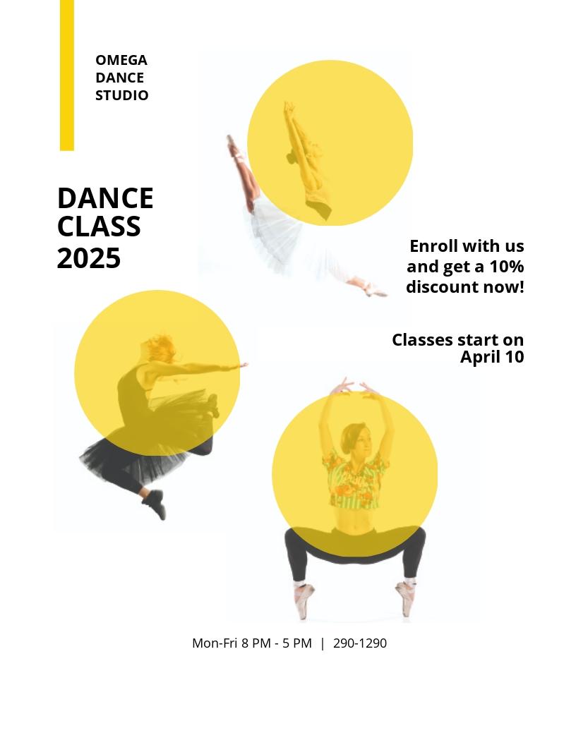 Dance Class Studio Flyer Template.jpe