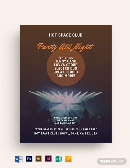 Dance Club Event Flyer Template