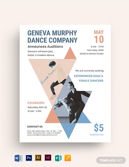 Dance Company Audition Flyer