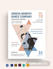 Dance Company Audition Flyer Template