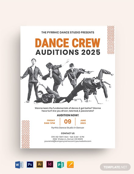 Dance Crew Audition Flyer Template