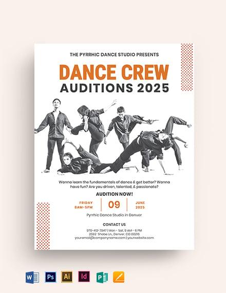 Dance Crew Audition Flyer