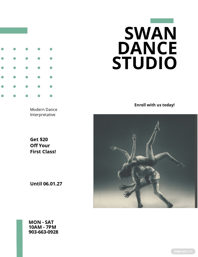 Dance Lesson And Studio Flyer Template.jpe
