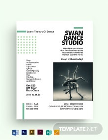 Dance Lesson And Studio Flyer Template