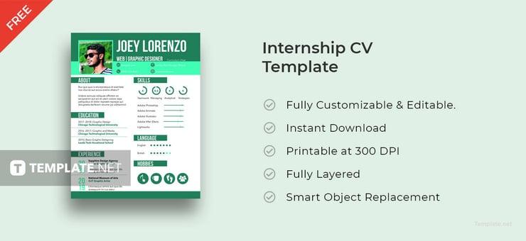 free internship cv template2 740x340