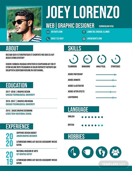 Free Internship CV and Resume Template: Download 160+ Resumes in PSD ...