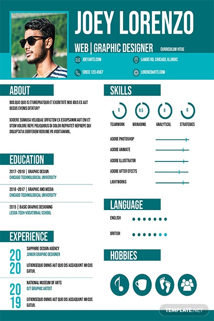 Free Internship Cv And Resume Template Download 160