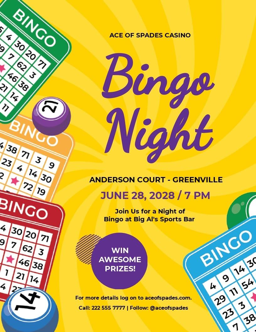 Creative Bingo Night Flyer Template