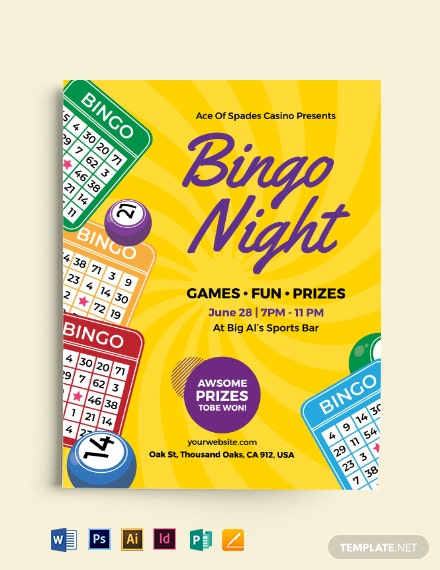 Creative Bingo Night Flyer Template