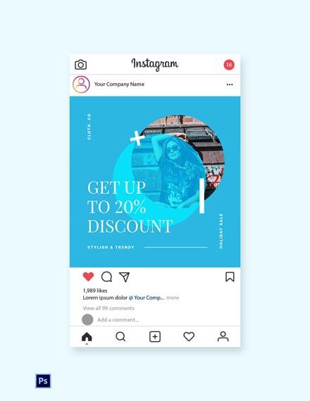 Free Elegant Holiday Sale Instagram Post Template