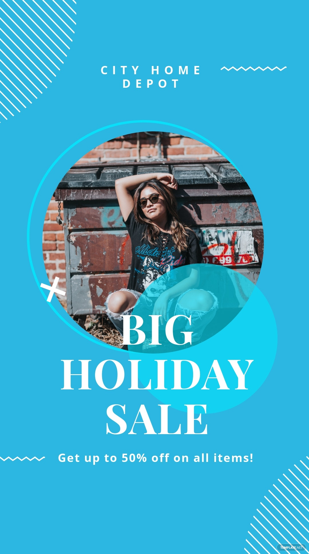 Free Elegant Holiday Sale Instagram Story Template