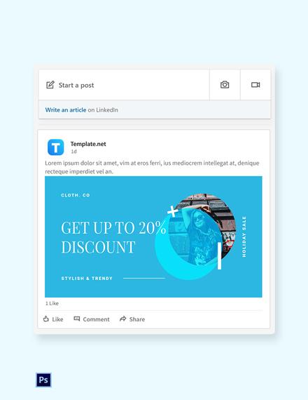 Free Elegant Holiday Sale LinkedIn Blog Post Template