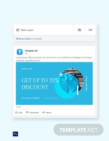 Free Elegant Holiday Sale LinkedIn Blog Post Template