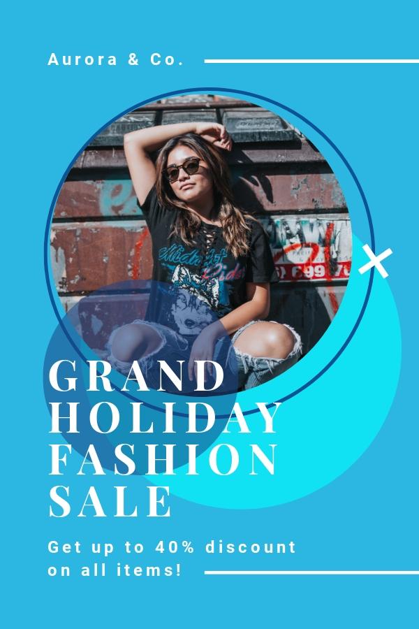 Elegant Holiday Sale Pinterest Pin Template