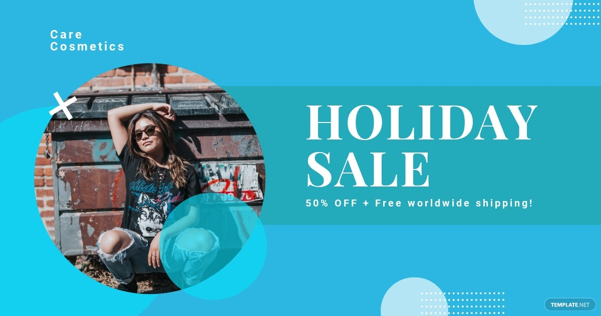 Free Elegant Holiday Sale Twitter Post Template