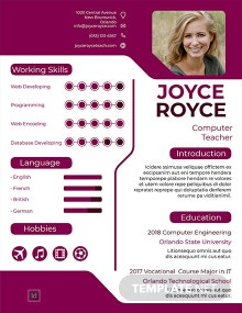 Free Computer Teacher Resume Template