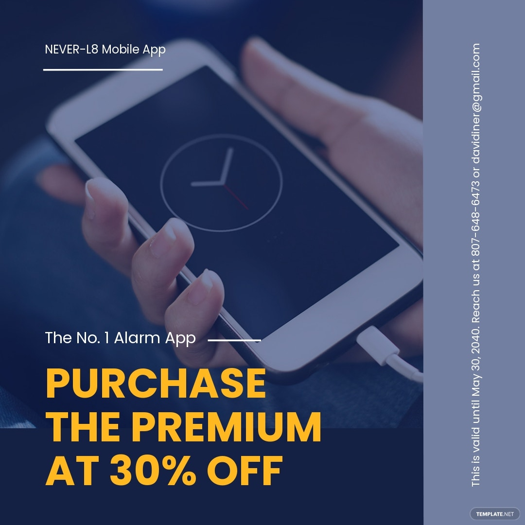 Free Mobile App Promotion Instagram Post Template