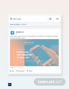 Free Mobile App Promotion Linkedin Post Template
