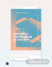 Free Mobile App Promotion Tumblr Post Template
