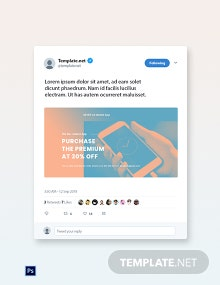 Free Mobile App Promotion Twitter Post Template