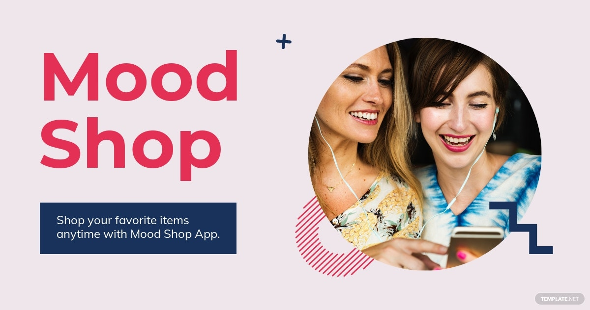 Shop App Promotion Facebook Post Template [Free JPG] - PSD