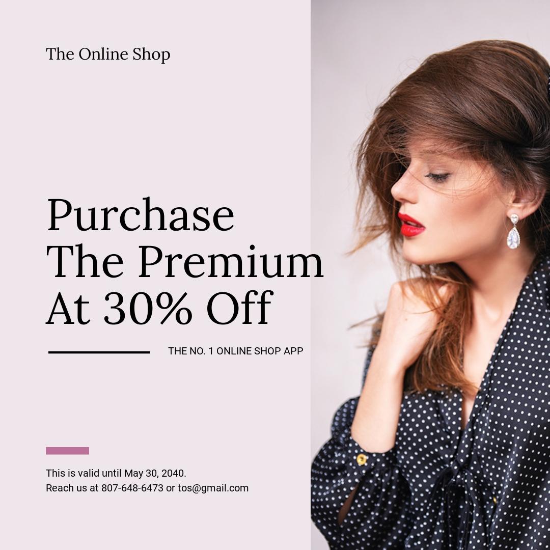 Shop App Promotion Instagram Post Template
